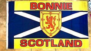 Bonnie Scotland Flag ~ 5ft x 3ft ~ Brand NEW   ~ Only £5.95 ~