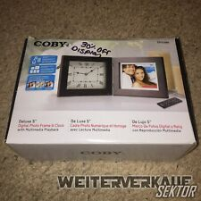 """COBY DP5088 Deluxe 5"""" Digital Photo Frame & Clock w/ Multimedia Playback"""