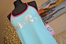 ELLESSE NEW 'Lucy Mecklenburgh' Activewear Top Turquoise Pink Womens Sz. Lg BNWT