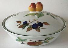 "Royal Worcester EVESHAM VALE 8 1/2"" ENTREE DISH w/ Lid Fruit Knob England 1986"