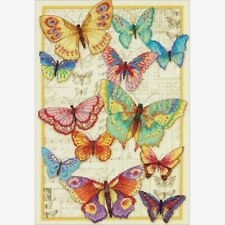 """Dimensions Gold Collection Counted Cross Stitch Kit Butterfly Beauty10""""X14"""" 14CT"""