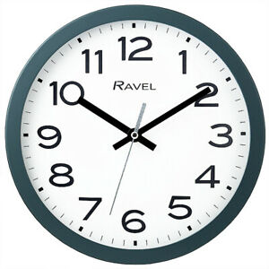Ravel Grey  Slate Kitchen Office 25cm Wall Clock  New  Boxed