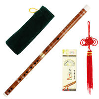 Bamboo Flute Dizi Kit Chinese Traditional Handmade Musical C Key Pluggable