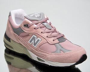 New Balance 991 Made In UK Women's Pink Grey Casual Lifestyle Sneakers Shoes