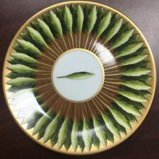 "New Philippe Deshoulieres Jardin De Florence Brown/Gold Leaves Dessert Plate 6"""