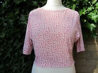 Episode Remake-Ladies Pink & White Floral Top Size S/M