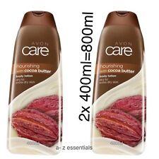 2 X AVON CARE COCOA BUTTER  BODY LOTION-- 400ml (800ml)