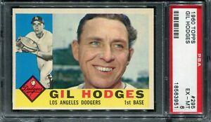 1960 Topps #295 Gil Hodges PSA 6 EX-MT