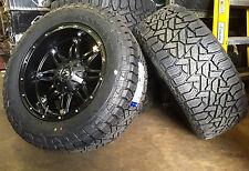 "(5) 20"" 20x10 Fuel D531 Hostage Black Wheels 33"" Mud Tires 5x5 Jeep Wrangler JK"