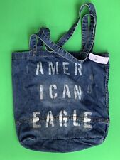 American Eagle Womans Distressed Denim Tote Bag New With Tag