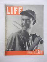Vintage LIFE Magazine September 1, 1941  No. 1 Batter Ted Williams