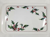 Villeroy Boch Holly Melamine Large Serving Tray Display Christmas 18 inch New