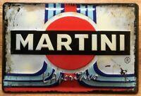MARTINI RACING BLECHSCHILD BAR 20 x 30 mit PRÄGUNG , NEU