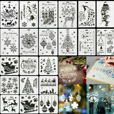Layering Christmas Stencils Window Painting Bullet Journal Template Scrapbooking