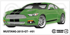 FORD MUSTANG 2015 GT - #01 - Sticker