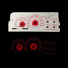 Red Reverse Glow Gauge Face For 95-98 Chevy C/K 1500 Silverado Full Size Pickup