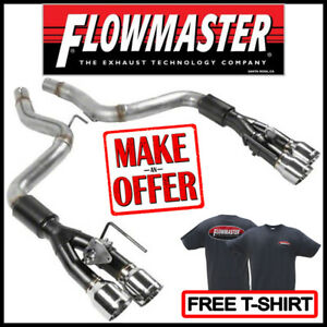 "Flowmaster Axle-Back Outlaw 3"" Exhaust Kit 2018-2020 Ford Mustang GT 5.0L V8"
