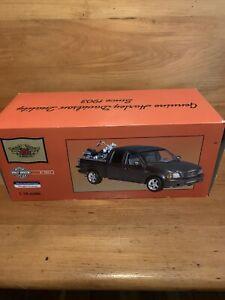 1/18 Ertl 2002 F150 Ford Harley Davidson crew cab with Springer Soft Tail NIB!!