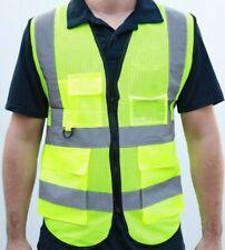 Security Safety Vest w/ High Visibility Reflective Stripes Orange & Lime