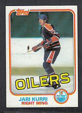 Jari Kurri 1981-82 Topps Rookie Card #18 Oilers Lot of 2