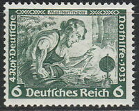Stamp Germany Mi 502A Sc B52 1933 WWII 3rd Reich Meinstersing Richard Wagner MH