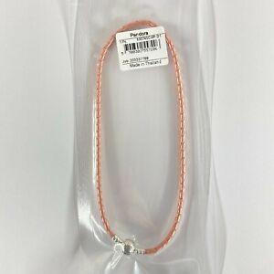 Pandora Armband, rosafarbenes Leder, zweifach gewickelt 590745CMP D1
