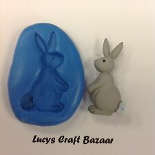 Silicone Mould Spring Easter Bunny Rabbit 4 Sugarcraft Cupcake Topper Chocolate