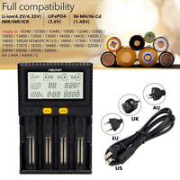 4 Slot LCD Intelligent Battery Charger For Li-ion 18650 26650 AAA AA 14500 16340