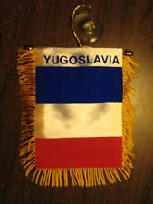 "YUGOSLAVIA FLAG MINI BANNER 4""x6"" CAR WINDOW MIRROR"