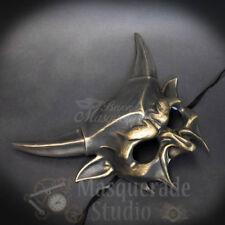 Devil Horns Satanic Demon God Costume Prop Halloween Masquerade Mask [Gold]