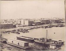 Égypte Port Saïd Photo Zangaki Vintage albumine ca 1875