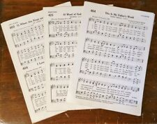 Vintage SMALL Sheet Music Sheets LOT For Crafting Wreath Decor Weddings 75 Pages