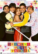 Deewane Huye Paagal - DVD (Akshay Kumar, Shahid Kapoor, Sunil Shetty) Bollywood