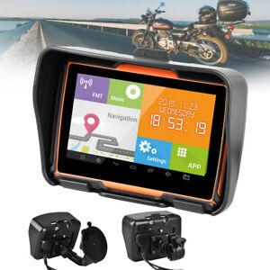 "4.3"" Motorcycle GPS Bluetooth Navigator 8GB Waterproof Navigation SAT NAV NA Map"