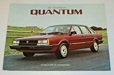 Original 1984 Volkswagen Vw Quantum Dealer Sales Brochure 12 Pages