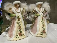 Angel Christmas Tree Toppers, Set of two. Great Condition. Beautiful Addition.