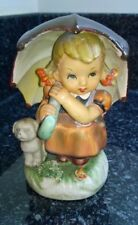 Vintage ceramic Girl with Umbrella & Dog figure 1960's Dee Bee Co Japan