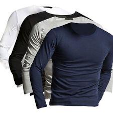 2017 aderente, da uomo maniche lunghe slim t-shirt casual maglietta maglia
