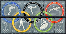 Romania 1960 SG#2717A-2721A Olympic Games MNH Strips Set #A84954