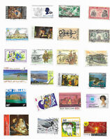 New Zealand  pre-1970 and after   24 different used commemorative stamps