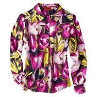 Women's Missoni Purple Floral Longsleeve Blouse Shirt