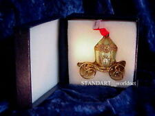 Russian Empress Alexandra Romanov Carriage Egg with inner Pendant Necklace