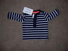 New baby bgosh navy stripe henley shirt size nb