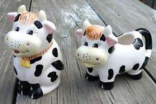 Vintage Cow Sugar & Creamer Set Houston Harvest