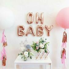 40 cm OH BABY Rose Gold foil balloons with ribbon Baby Shower birthday party AUS