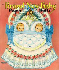 Vintge 1950s Brand New Baby Paper Doll ~Saalfield Uncut Laser Org Sz Reproductio