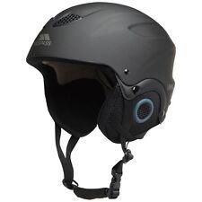 Trespass Skyhigh Adults Mens Womens Ski Snow Sport Helmet, Black, LARGE 58-62cm