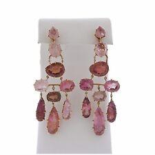 H. Stern Spring Pink Tourmaline Chandelier 18k Gold Earrings