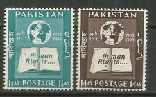 PAKISTAN Scott# 99-100 ** MNH Derechos humanos 1958