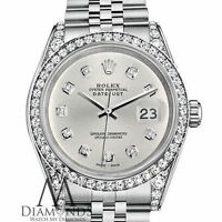 Ladies Rolex Datejust 26mm Stainless Steel Silver Color Diamond Dial Watch